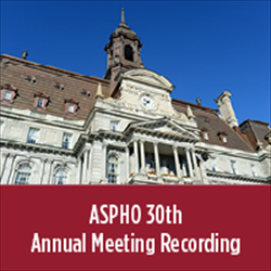 2017 ASPHO Annual Meeting Recording
